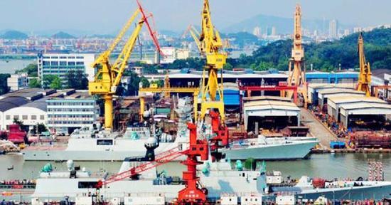 资料图:中国建造的新军舰