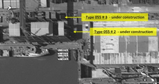 简氏:中国第6艘055舰开工 超美最新伯克III驱逐舰