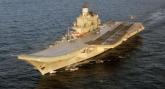 俄媒称俄新航母将比辽宁舰大 滑跃甲板弹射器同时上|中国|航母|辽宁舰