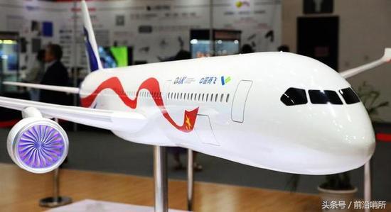 資料圖:中國CR-929模型