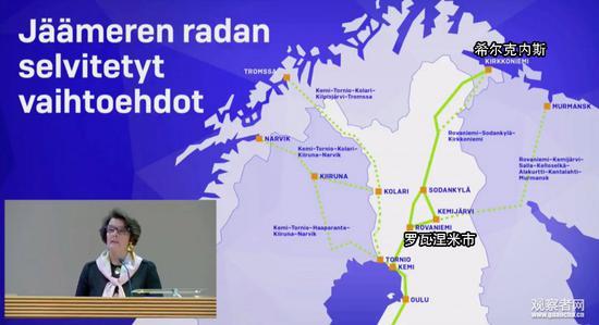 挪威希尔克内斯与芬兰罗瓦涅米市铁路线路