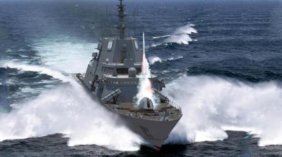 图片:美国最新型FFG(X)导弹护卫舰设想图。