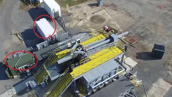 美军电磁炮测试现场。