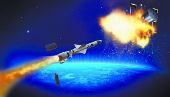 图为中国反卫星武器效果图