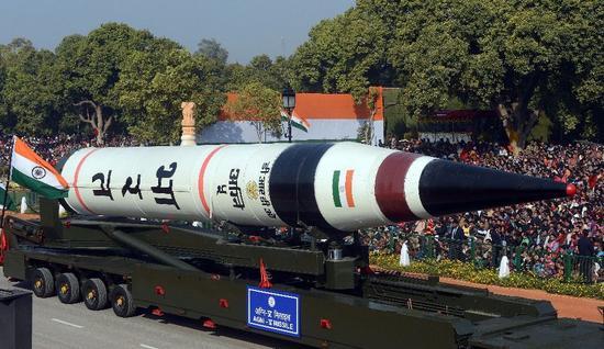 印度正研发烈火6洲际导弹 号称