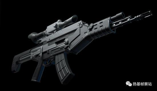 最终的量产型QTS-11数字化单兵作战系统3D模型