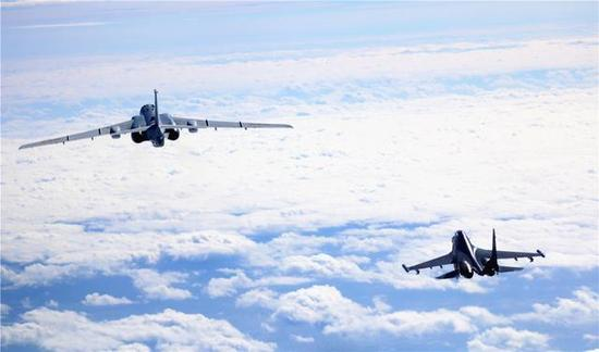 ▲中国空军加大远海战巡力度