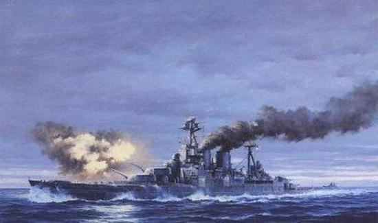 二战英军5万吨巨舰千枚炮弹同时引爆 2分钟内沉海|俾斯麦|战舰|巨舰