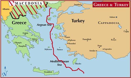 图注:同为北约成员国,希腊和土耳其海空争端至今仍在持续