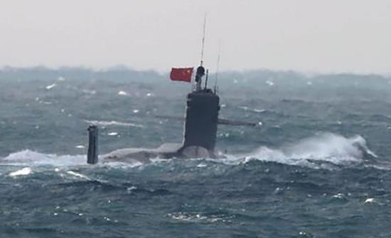 中国海军向美日亮剑 093B核潜艇主动曝光是威慑对方