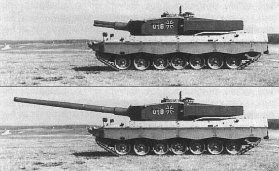 测试140口径主炮的豹2