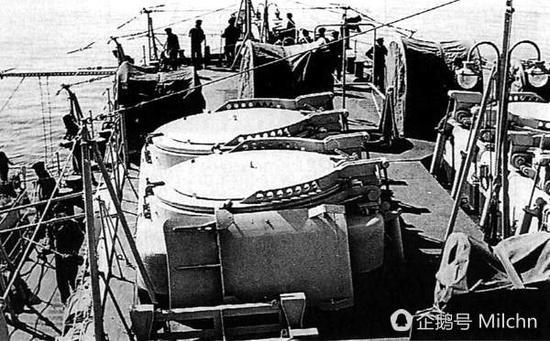 意大利加里波第号轻巡洋舰上的北极星导弹测试弹发射井