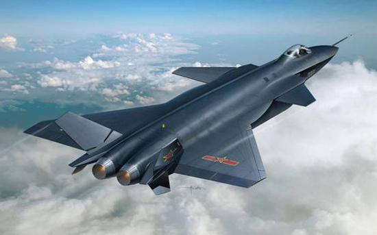 """图说:歼-20因黑色的机体,又是我国自主研发的第四代战斗机,很多国内军迷取谐音将其昵称为""""黑丝带"""""""