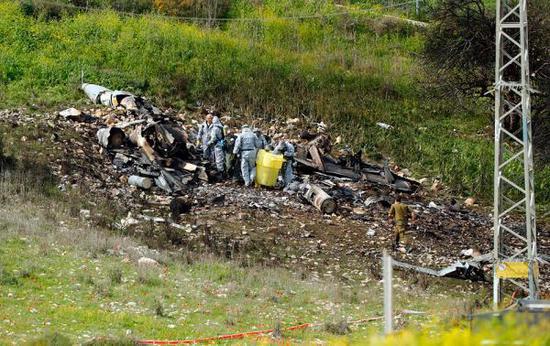 ▲以色列空军一架F16被击落