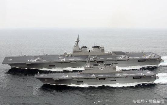 """岛国""""日向"""" 级和""""出云""""级两栖登陆舰"""