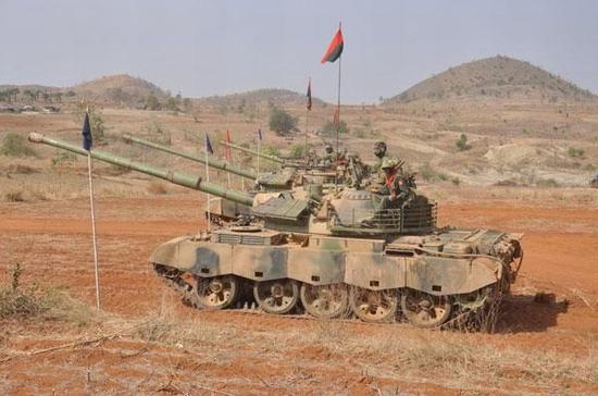 缅甸装备的59D主战坦克