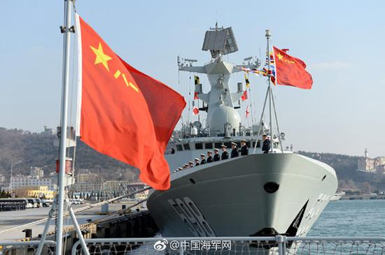 刚刚加入人民海军战斗序列的日照舰。 张海龙 摄