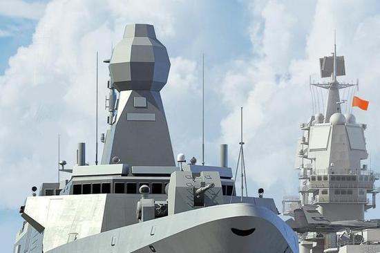 图片:中国054B导弹护卫舰想象图。