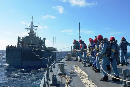 图注:训练中的日本海自