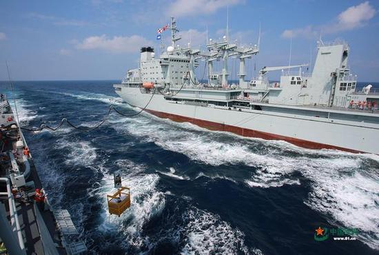 ▲海上干货横向补给