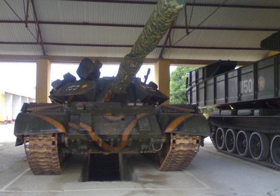 图为越南的T-55M3坦克。
