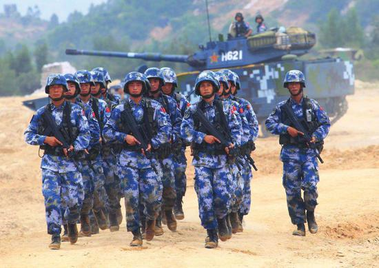 美称中国海军陆战队已增