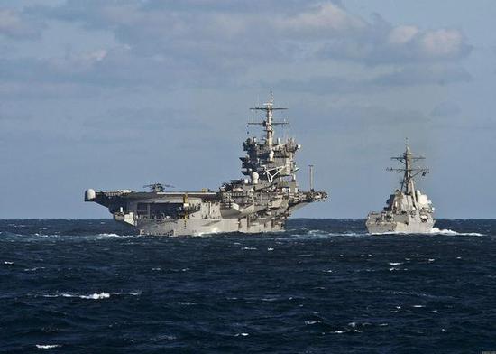 图注:美国航母编队