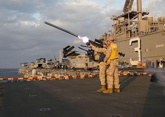 "Block1-92F人员携行式(肩射型)""毒刺""防空导弹。(来源:台媒)"