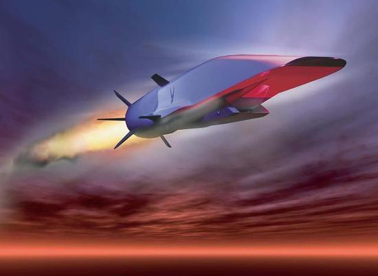 美国的X-51超音速武器概念图)