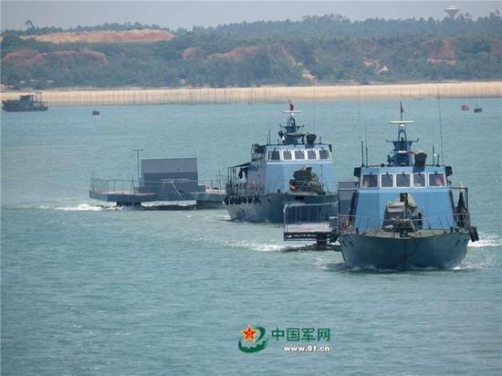 ▲空军海战队设置海上靶标