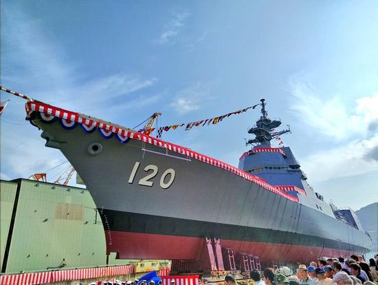 日本最新朝日号驱逐舰服役 电推系统及雷达世界领先