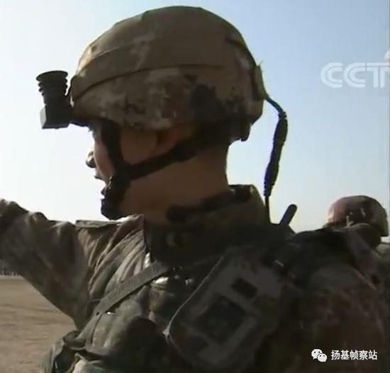 QTS-11数字化单兵作战系统头盔部分,悬挂系统非常先进