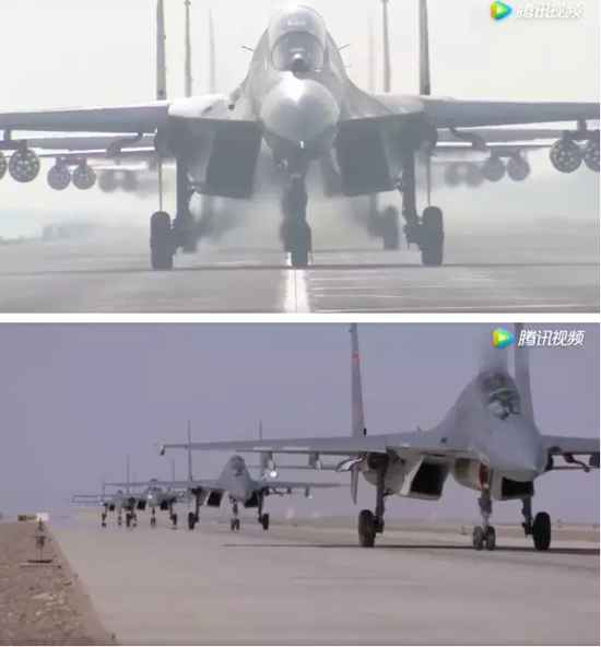 """""""空军发布""""发布的这个练兵备战宣传片《为胜战起飞》,片长4分19秒。"""