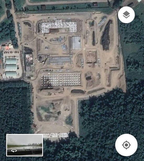 万金营区飞弹阵地已施工一段时间,基地雏形已现 图源:台湾联合新闻网
