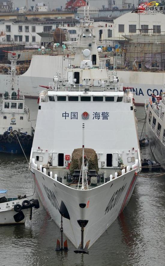 ▲818型舰主桅上的3X1雷达为056的标配