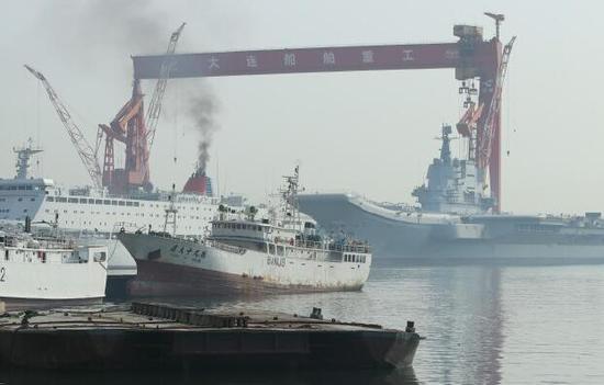 我国产航母和保障船烟囱同时冒烟 今天或有动作(图)太玄遁仙