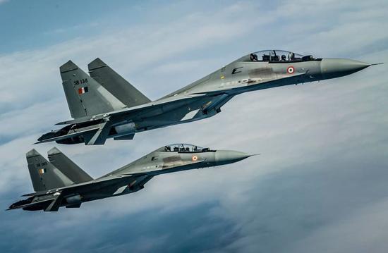 印媒:印度空军兵力不到中国一半 无力在边境与华对抗
