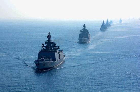 外媒:印度海军进行最大规模军演 在印度洋反制中国