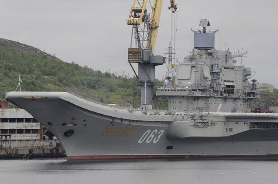 库兹涅佐夫号航母(材料图)