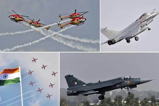 印度航展亮出大量重量级武器