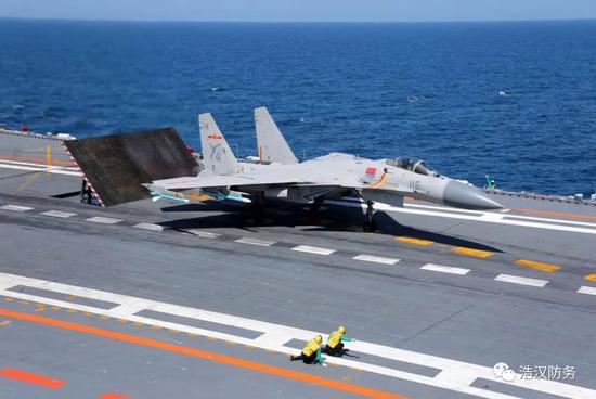 准备起飞的J15(图片来源于:网络)