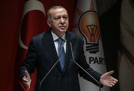 土耳其总统埃我多安。IC 材料图