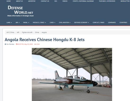 外媒:安哥拉接收一批中国军机 单价仅1300万美元