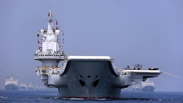 新中国史上最大海上阅兵:我军辽宁舰航母领衔