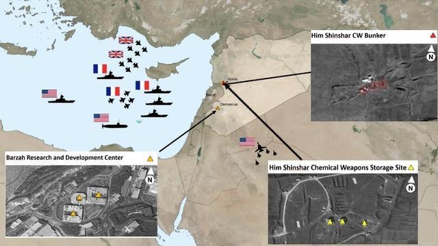 炫耀战果!美军方发布对叙利亚打击效果照片