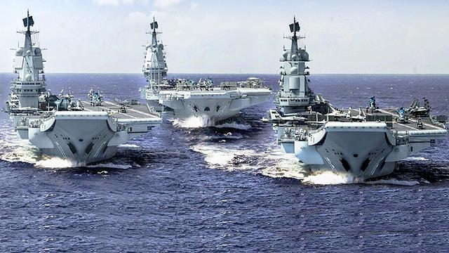 大国海军长啥样?网友绘图展望我军三航母并肩齐行
