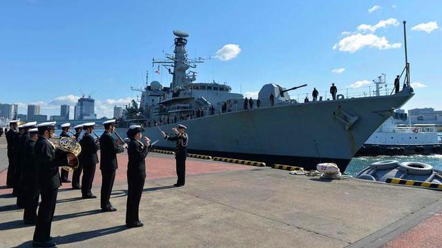 再续英日同盟?日海自迎接英国护卫舰抵达东京访问
