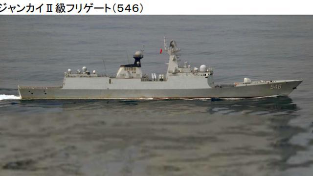 8月第一次!我北海舰队054A盐城舰穿对马巡日本海