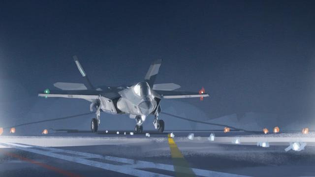 歼31上航母就是这样?国产隐形舰载机CG相当科幻