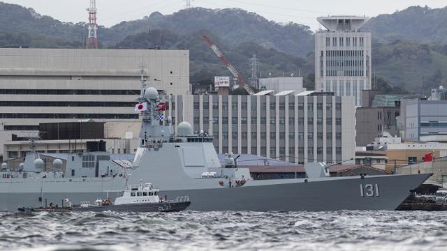 御用摄影师技术不错!日本人镜头下的中国海军052D太原舰